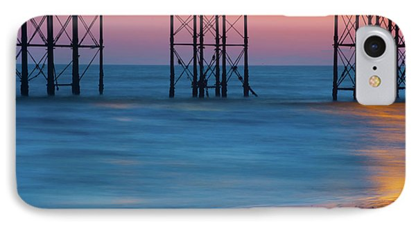 Pier Supports At Sunset I IPhone Case