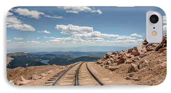 Pikes Peak Cog Railway Track At 14,110 Feet IPhone Case