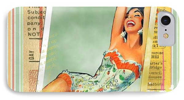 Pin Up Girl Square IPhone Case