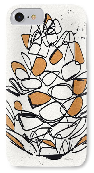 Pine Cone- Art By Linda Woods IPhone Case