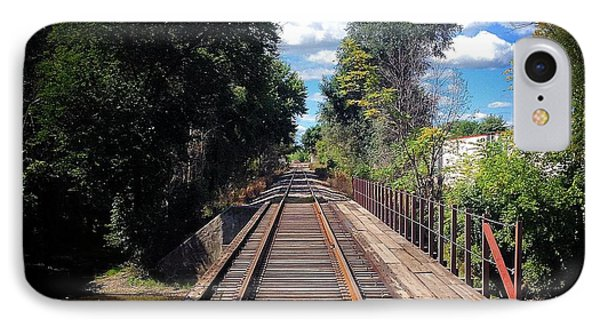 Pine River Railroad Bridge IPhone Case