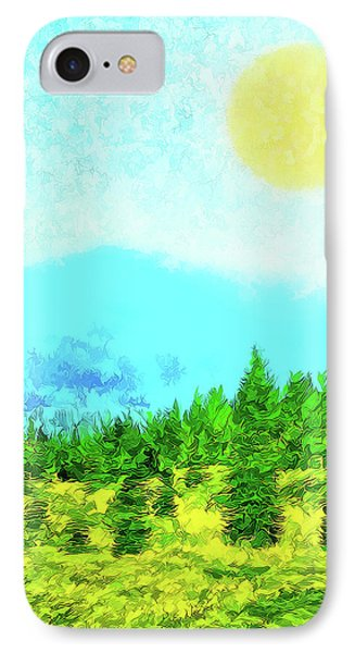 Pine Tree Mountain Blue - Shasta California IPhone Case
