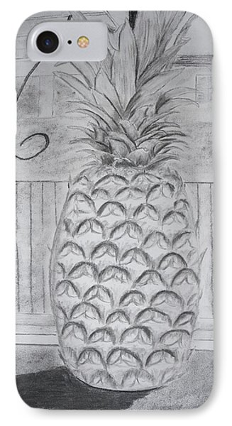 Pineapple In Window IPhone Case