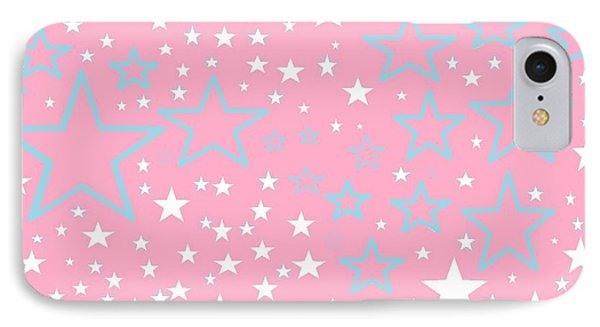 Pink And Turquoise Stars 1 IPhone Case
