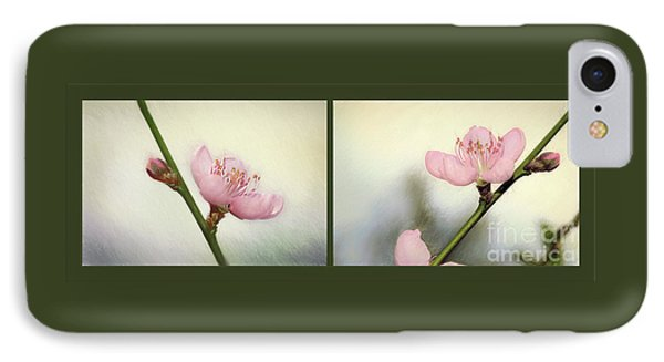 IPhone Case featuring the photograph Pink Blossom Collage By Kaye Menner by Kaye Menner