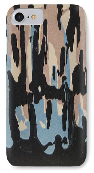 Pink Blue And Brown Drips IPhone Case