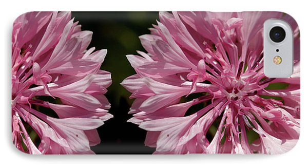 Pink Cornflowers IPhone Case
