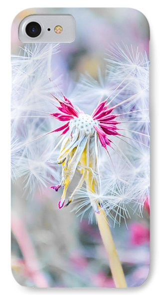 Beautiful Nature iPhone 8 Case - Pink Dandelion by Parker Cunningham