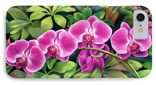 Pink Jungle Orchids IPhone Case