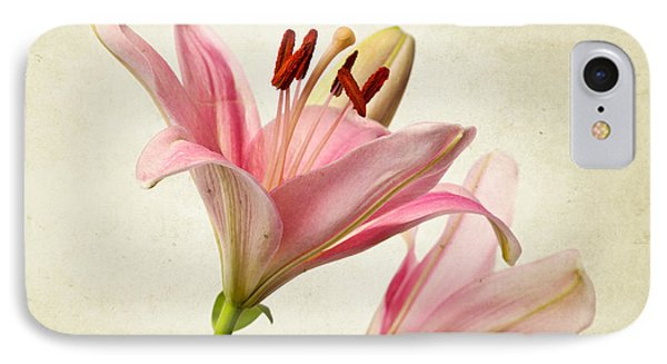 Lily iPhone 8 Case - Pink Lilies by Nailia Schwarz