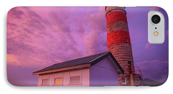 Pink Skies At Cape Moreton Lighthouse IPhone Case