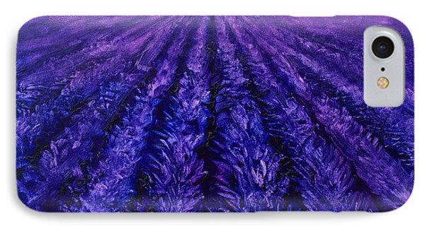 Pink Skies - Lavender Fields IPhone Case