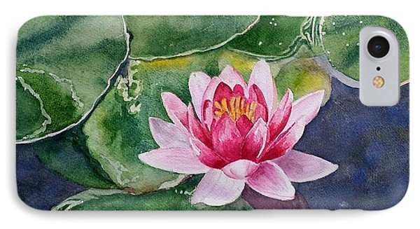 Pink Waterlily IPhone Case