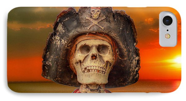 Pirate Skeleton Sunset IPhone Case