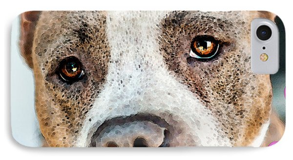 Pit Bull Dog - Pure Love IPhone Case