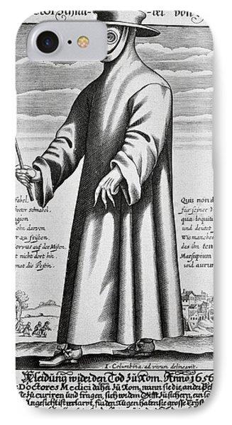 Plague Doctor, 17th Century Artwork IPhone Case