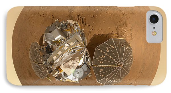 Planet Mars Via Phoenix Mars Lander IPhone Case