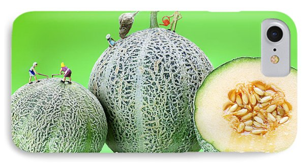 Planting Cantaloupe Melons Little People On Food IPhone Case