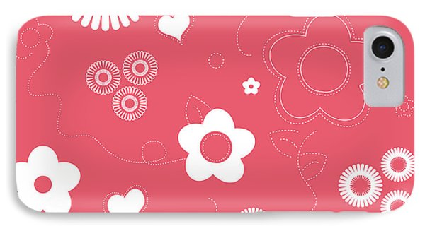 Playful Flower Background IPhone Case
