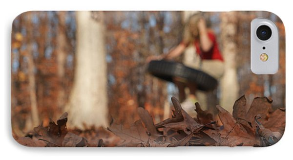 IPhone Case featuring the photograph Playing On The Tire Swing by Greg Collins