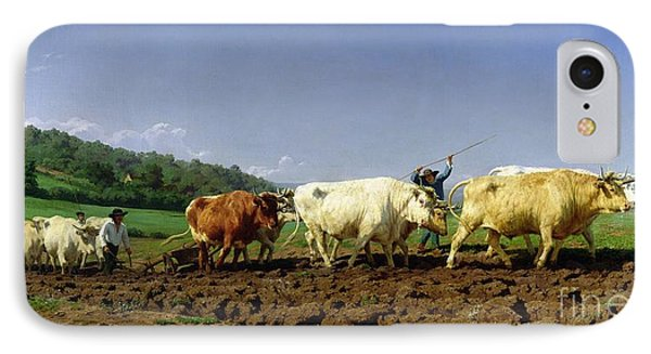 Ploughing In Nivernais IPhone Case