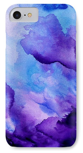 Plum And Blue IPhone Case