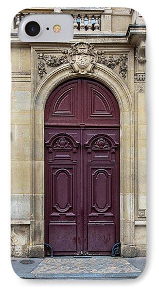 Plum Door - Paris, France IPhone Case