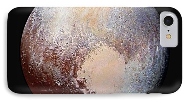 Pluto Dazzles In False Color - Square Crop IPhone Case