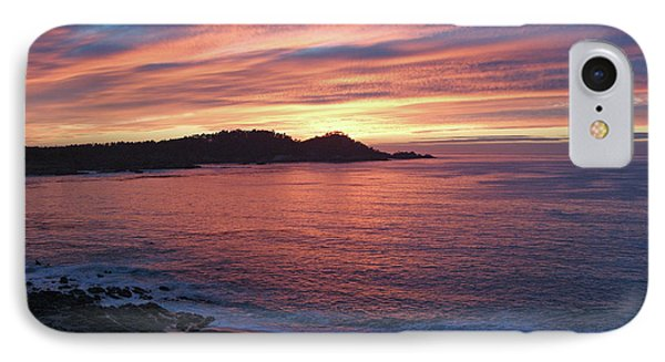 Point Lobos Red Sunset IPhone Case