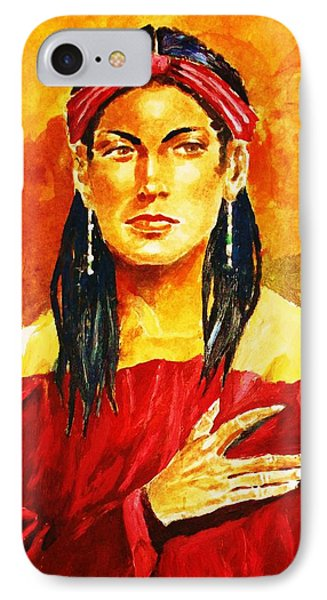 Poised In Scarlet Garment IPhone Case