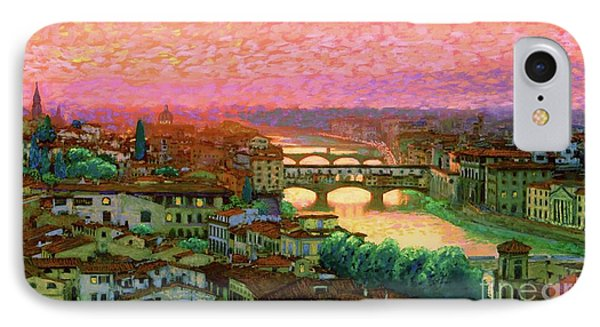 Ponte Vecchio Sunset Florence IPhone Case