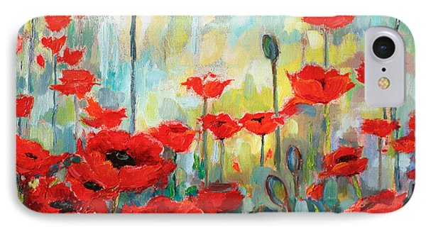 Poppies In Bloom IPhone Case