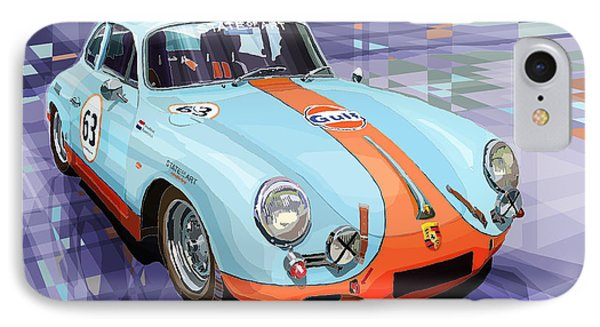 Car iPhone 8 Case - Porsche 356 Gulf by Yuriy Shevchuk