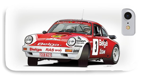 Porsche 911 Sc Rs Belga Team IPhone Case