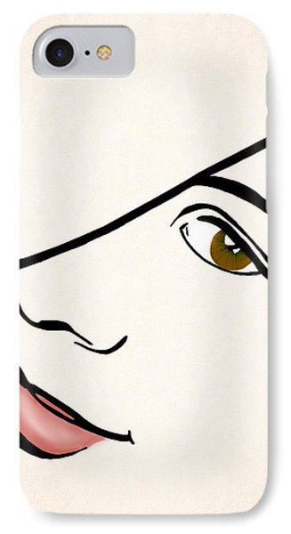Portrait In Line IPhone Case