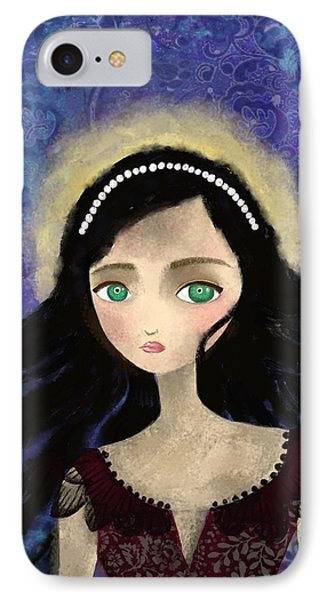 Portrait Of A Girl In A Forest During The Full Moon IPhone Case