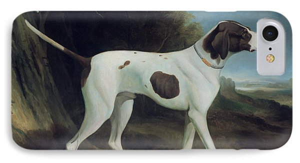 Dog iPhone 8 Case - Portrait Of A Liver And White Pointer by George Garrard