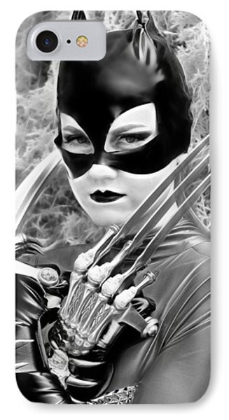 Portrait Of A Retro Cat Lady IPhone Case