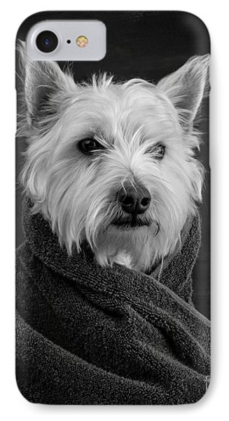 Puppies iPhone 8 Case - Portrait Of A Westie Dog by Edward Fielding