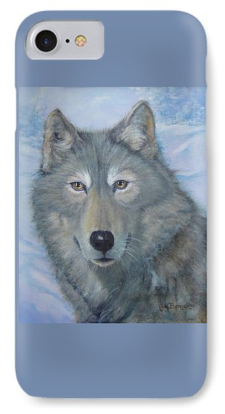Portrait Of A Wolf IPhone Case