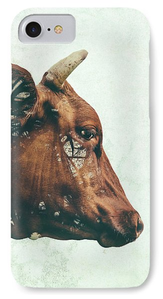 Cow iPhone 8 Case - Portrait Of Bess by Katherine Smit