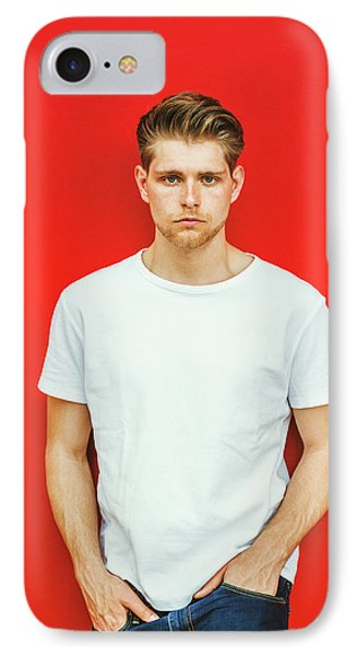 Portrait Of Young Handsome Man IPhone Case