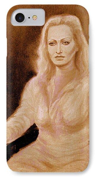 Portrait Woman In Bright Dress IPhone Case