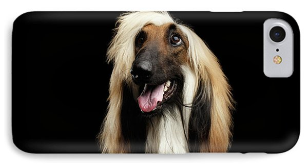 Portraitof Afghan Hound On Black IPhone Case