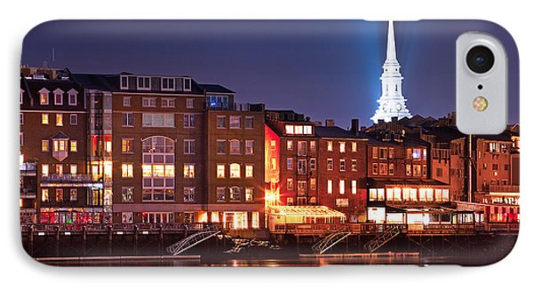 Portsmouth Waterfront At Night IPhone Case