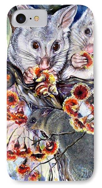 Possum Family IPhone Case