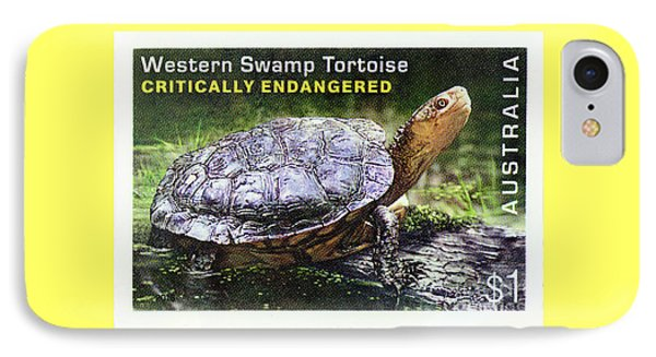IPhone Case featuring the photograph Postage Stamp - Western Swamp Tortoise By Kaye Menner by Kaye Menner