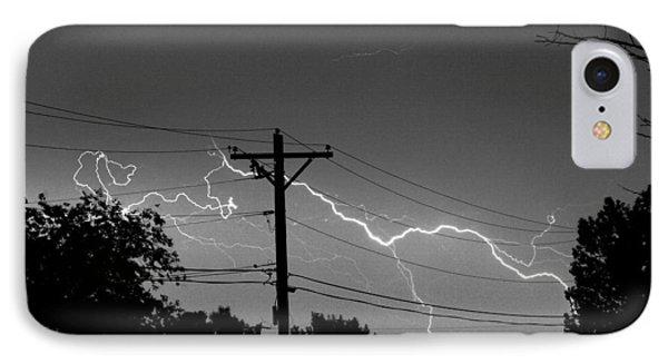 Power Lines Bw Fine Art Photo Print IPhone Case