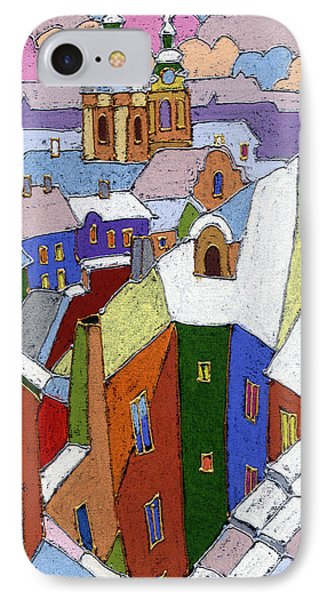Prague Old Roofs Winter IPhone Case