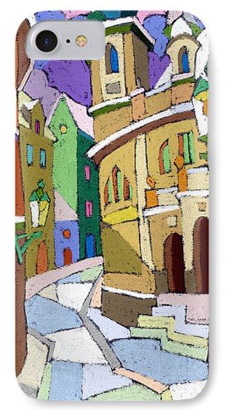 Prague Old Street Karlova Winter IPhone Case